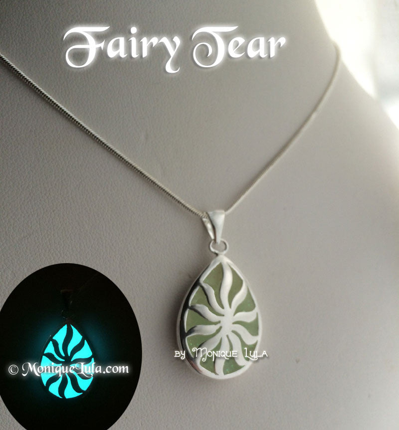 Fairy Tear Glowing Teardrop Necklace