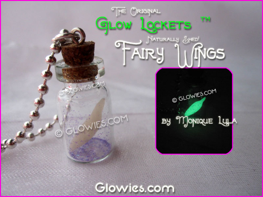 Naturally Shed Fairy Wings Glow Potion Pixie Bottle Glass Faerie Jar