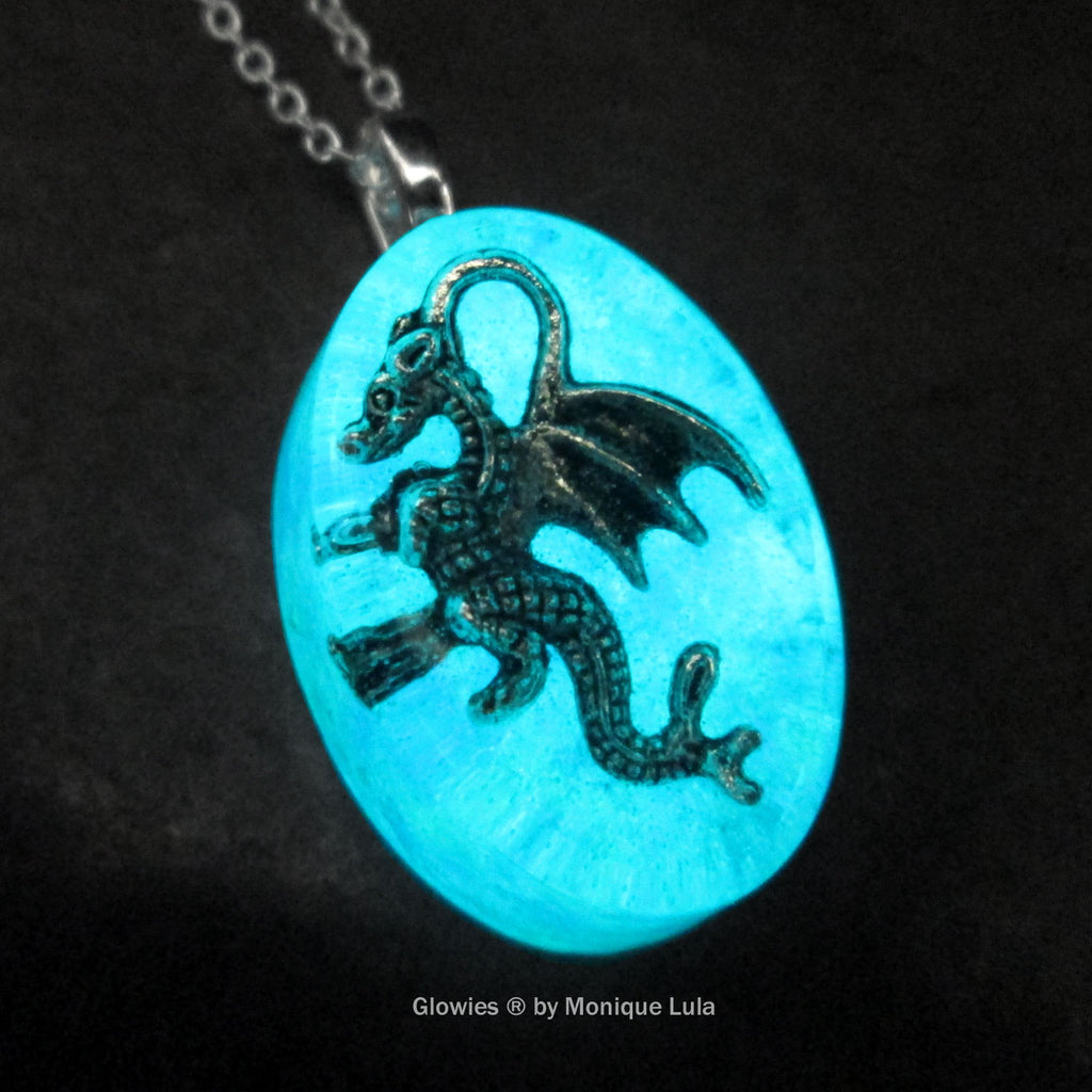Frozen Dragon Glow Opal Necklace