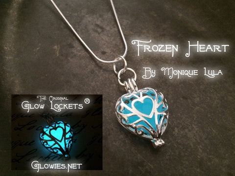 Frozen Glowing Heart Necklace