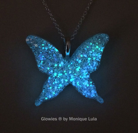 Holographic Galaxy Butterfly Glow Necklace