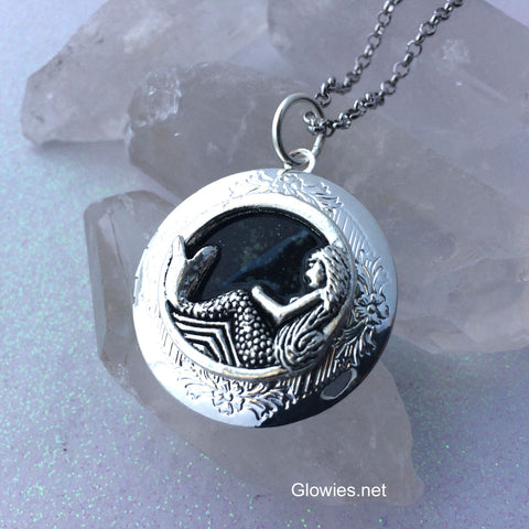 Galaxy Mermaid Glow Locket ®  Necklace