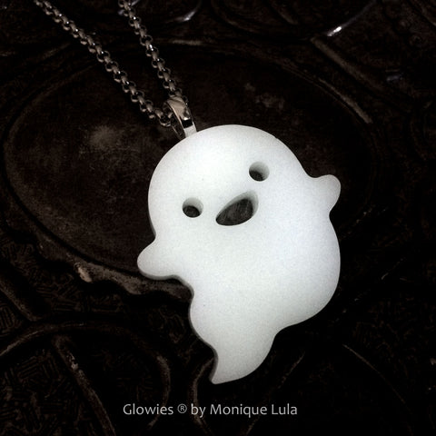 Glow in the dark Ghost Pendant Necklace