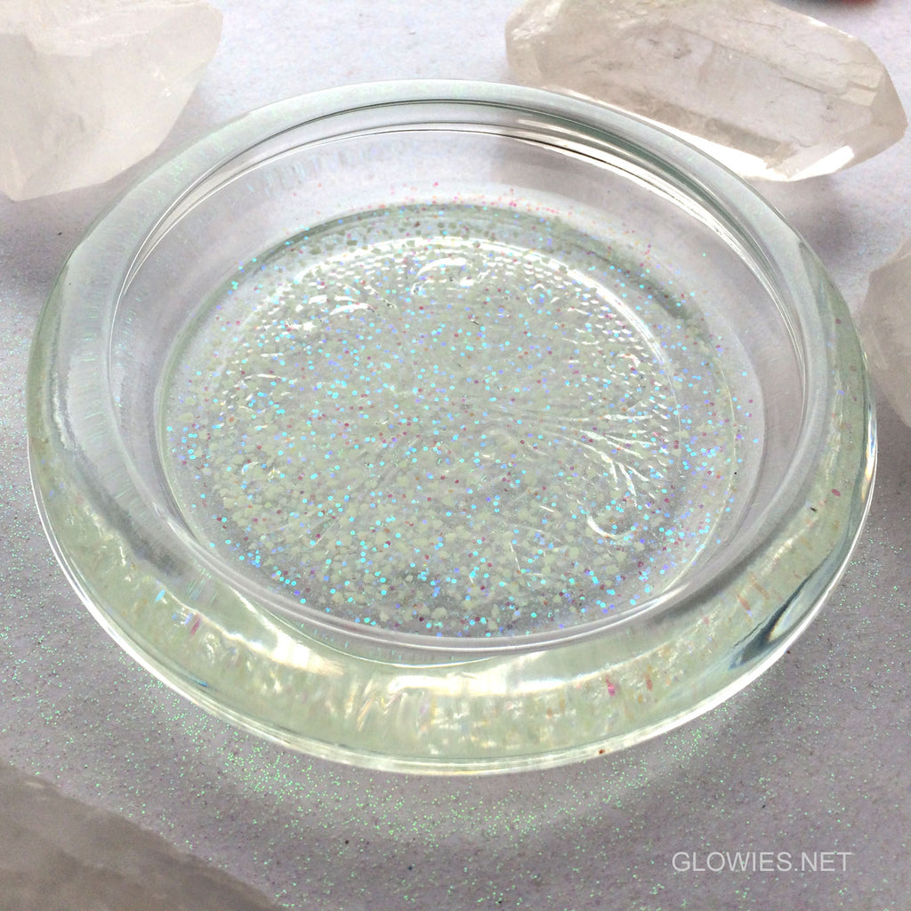 Glass Galaxy Glow in the Dark Glass Trinket Dish