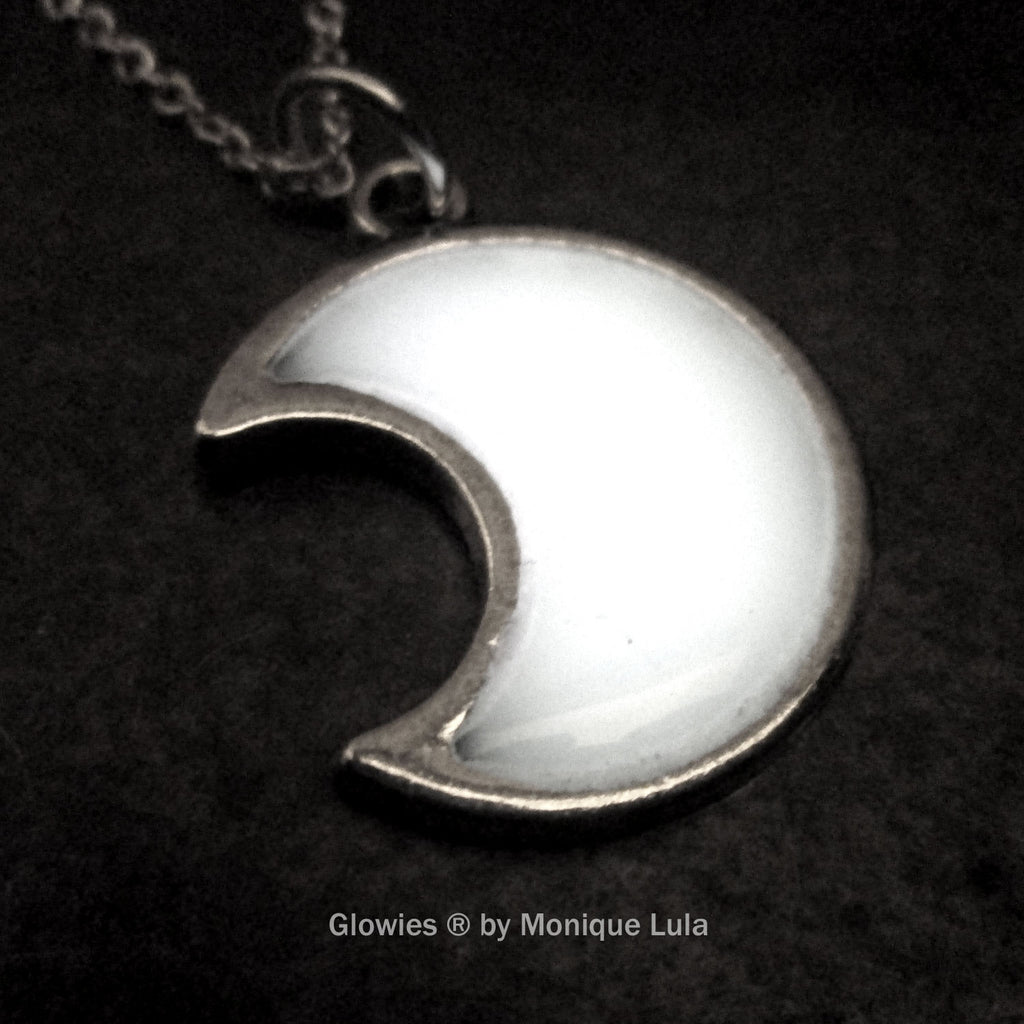 Glowing Crescent Moon Necklace