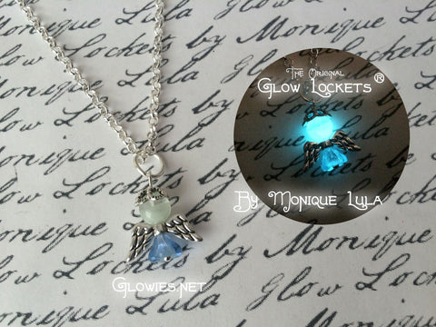 Glowing Glass Angel Glow Necklace