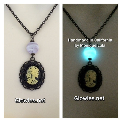 Gothic Lolita Victorian Glow Glass Necklace