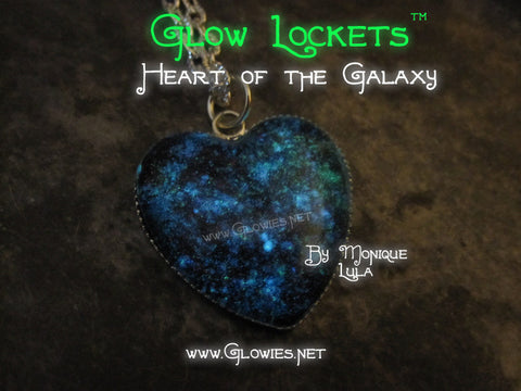 Heart of the Galaxy Space Glow in the dark Nebula Pendant