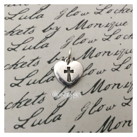 Heart with Cross Charm