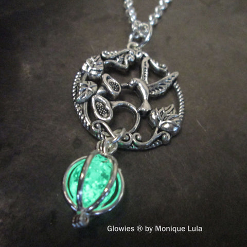 Hummingbird Orb Cage Glow Locket ®