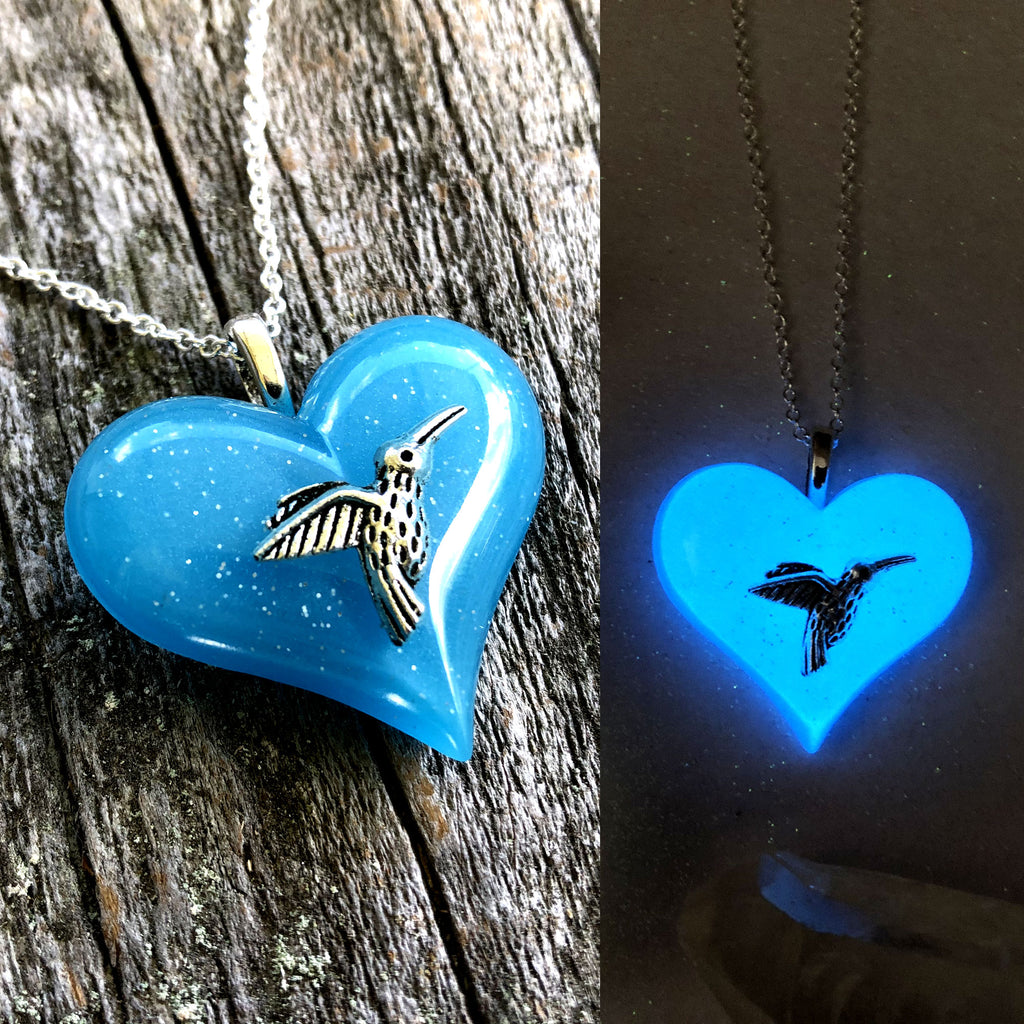 Hummingbird glow in the dark Lula Heart