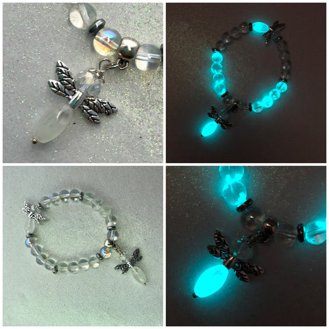 Crystal Fireflies Glow in the Dark Beaded Bracelet