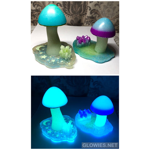 Glowing Mushroom Sculptures Batch #1