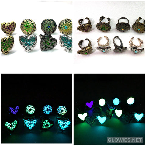 Glow Locket Rings