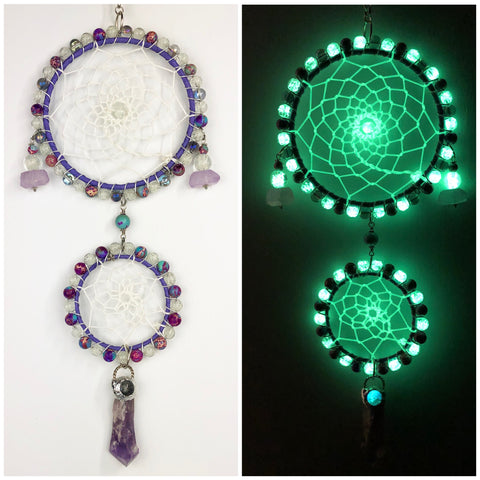 Glowie Double Dreamcatcher Amethyst Quartz Jasper
