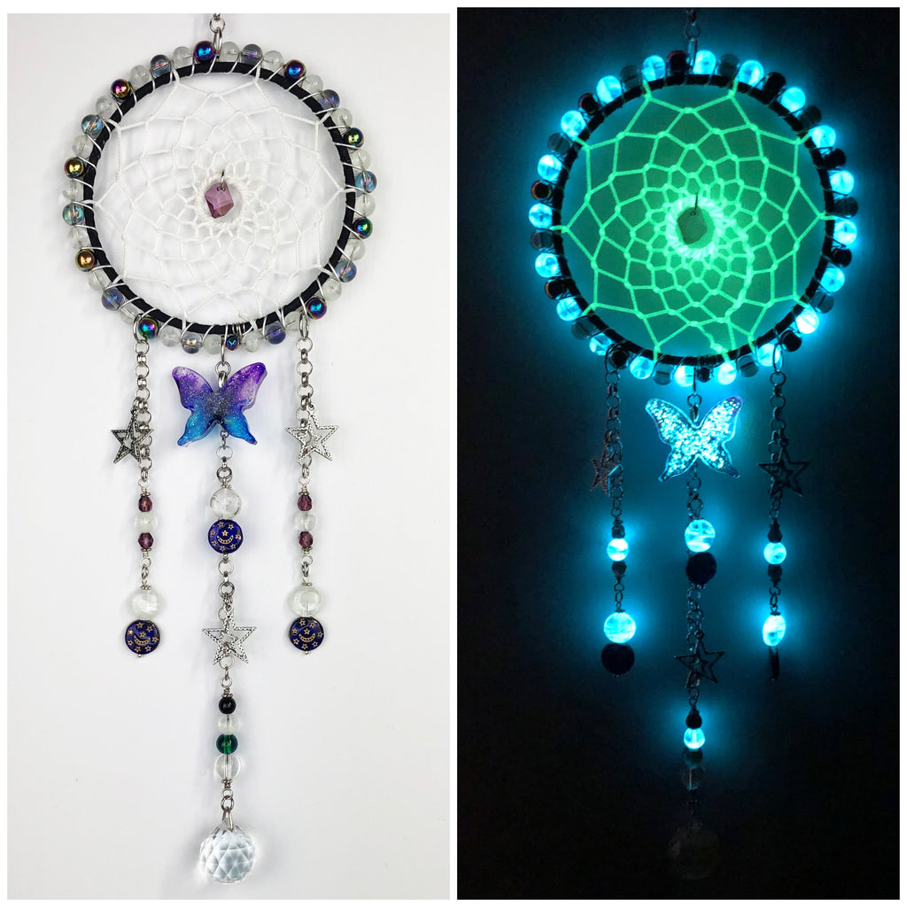 Galaxy Butterfly Moon and Star Dreamcatcher 5 inch