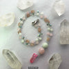 Rose Quartz Beaded Glow Necklace