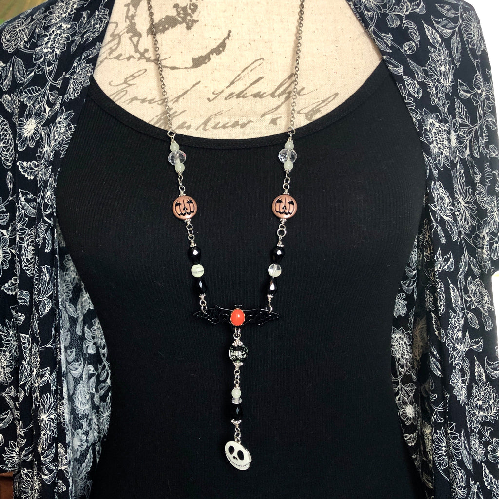 Long Halloween Glowie Necklace #9