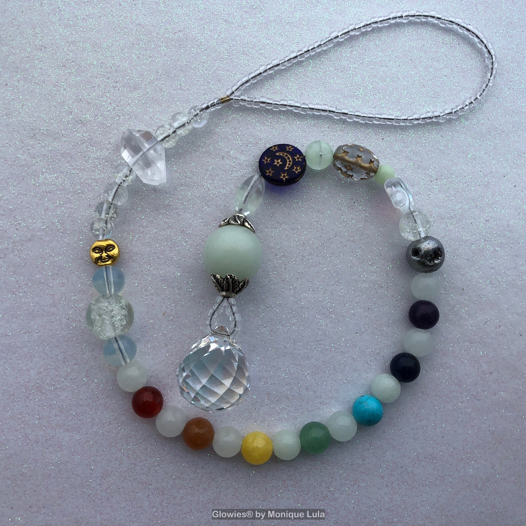 Glowie Moon and Star Suncatcher Crystal Rainbow Maker