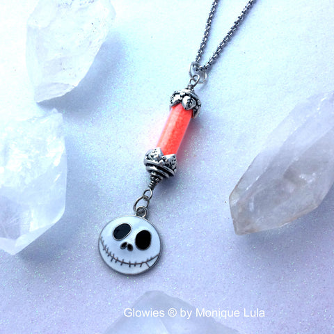 Jack O' Lantern Glow Necklace