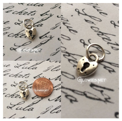 Tiny Little Heart Lock Charm