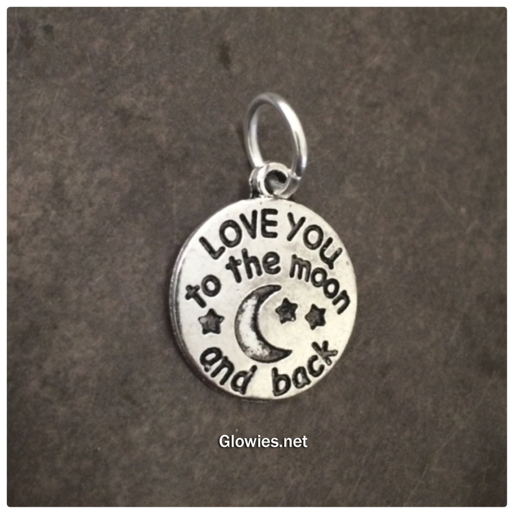 Love You To The Moon Charm