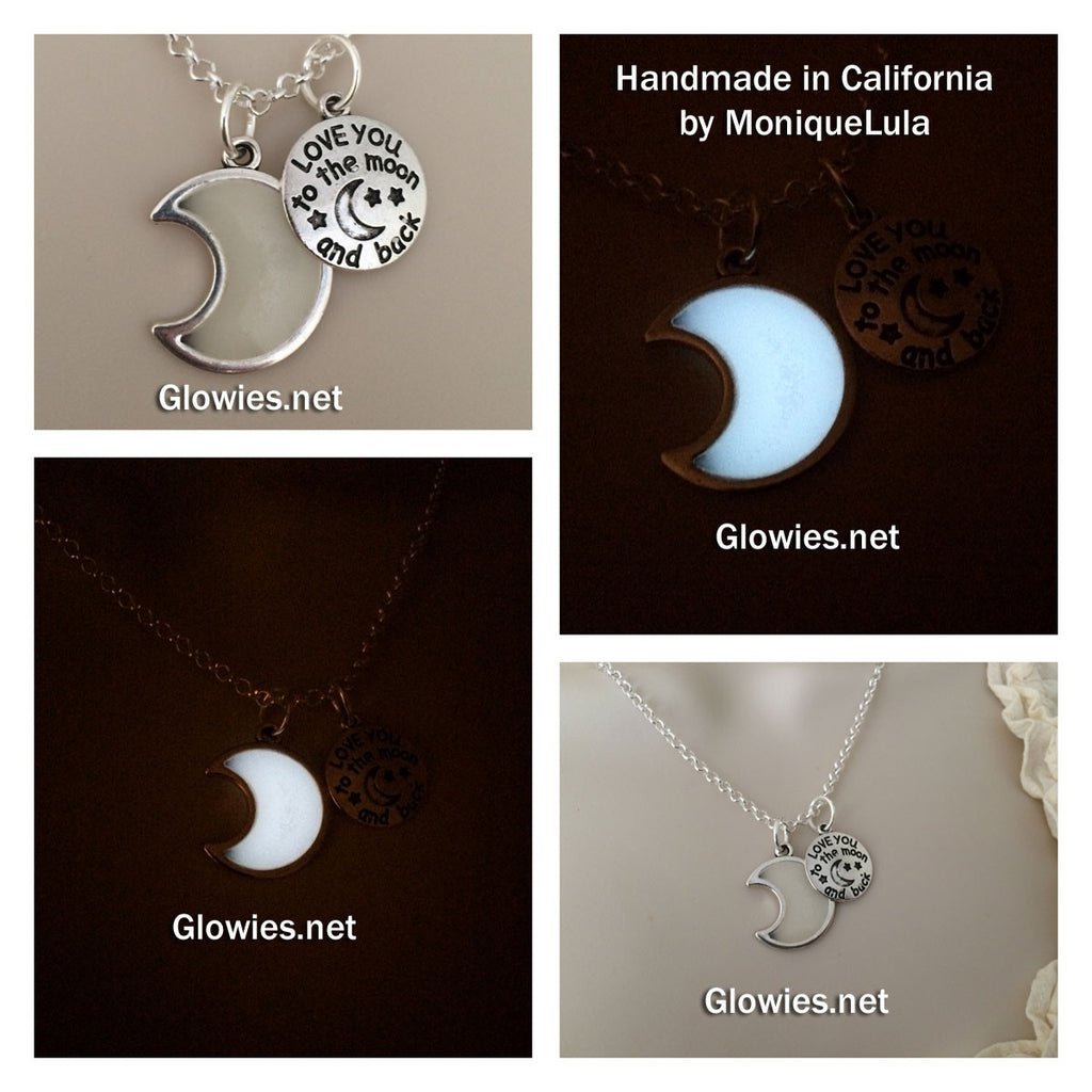 Flash Sale Love you to the Moon & back Glowing Crescent Necklace