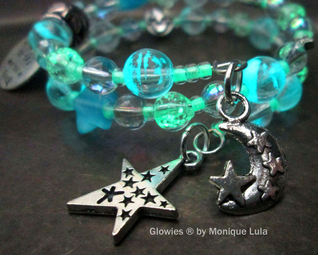 Love You To The Moon & Back Glowing Galaxy Bracelet
