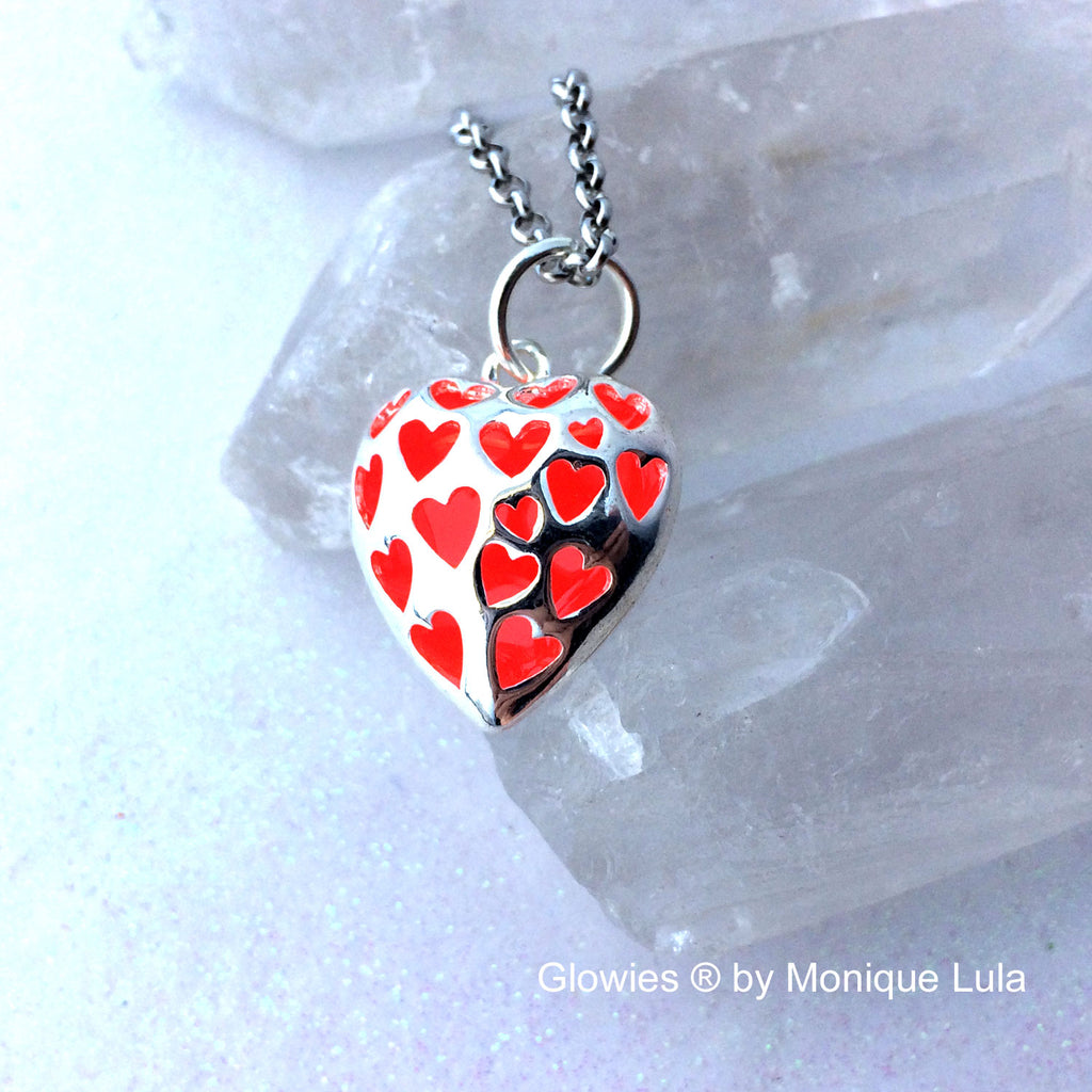 Gift Set Love Spell Glow Heart Necklace