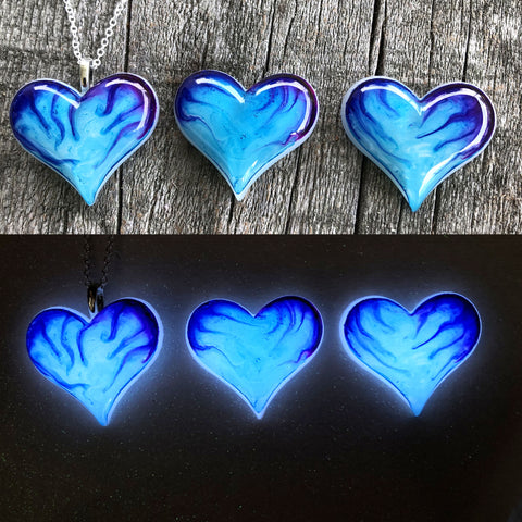 Lula Heart Style #2 - Blue & Purple Flame
