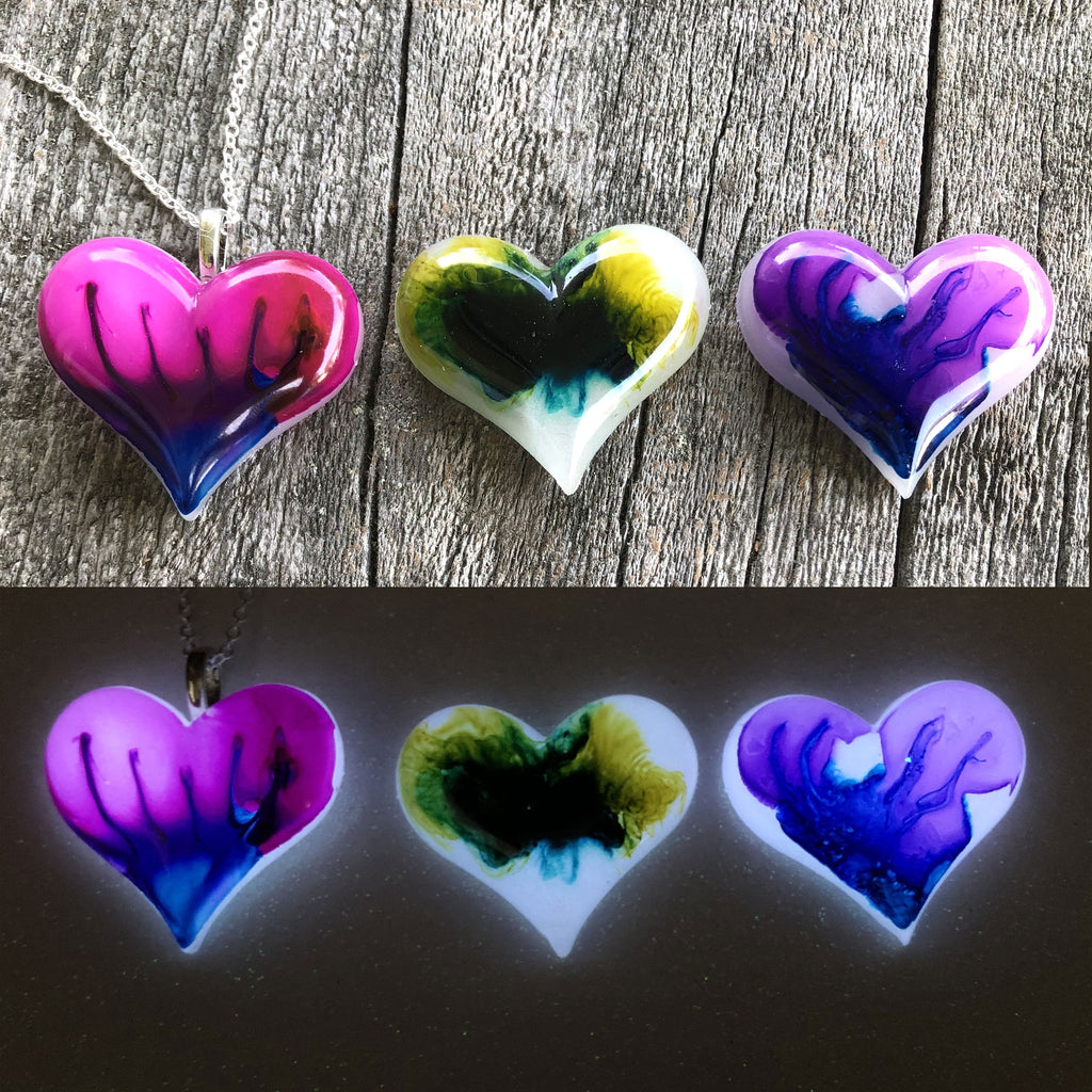 Lula Heart Style Batch #10 Blue Flame Green Yellow Purple  Flame