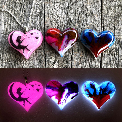 Lula Heart Style Batch #19 - Moon Fairy Magenta Drip Blue & Red Flame