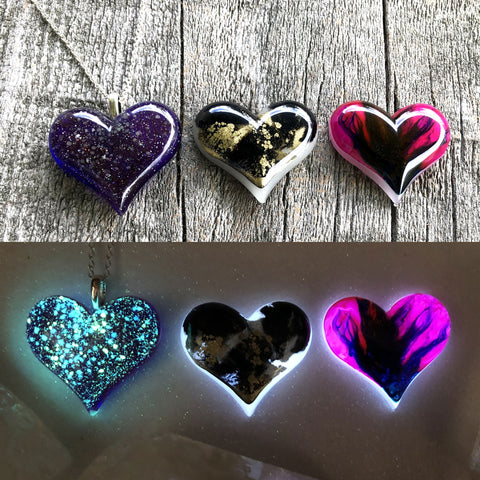 Lula Heart Style Batch #24 - Purple Galaxy Black Gold and Pink Purple