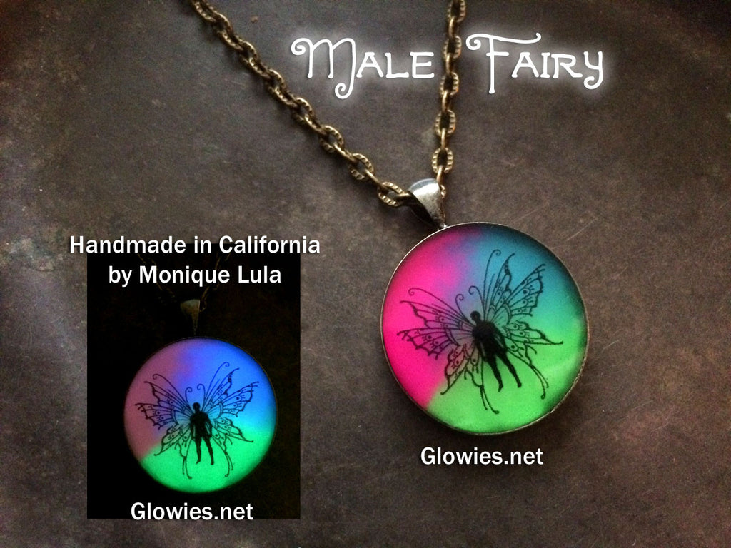 Male Fairy Glow Art Necklace