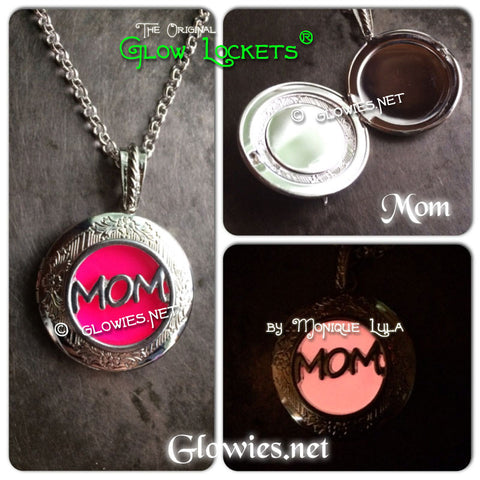 Glowing Mom Mothers Day Glow Locket