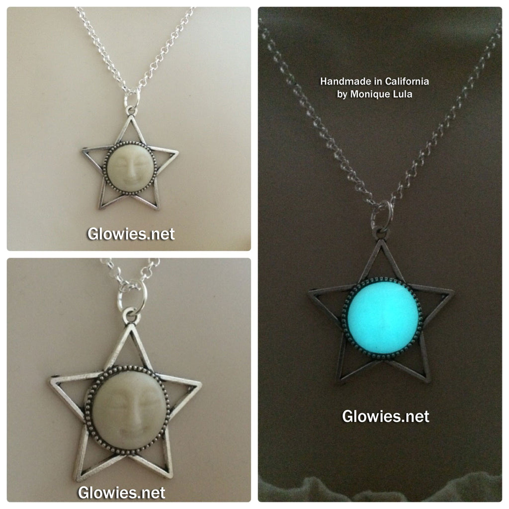 Moon Face Star Glow Necklace
