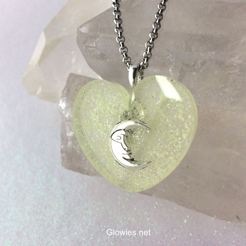 Moon Within Your Heart Galaxy Glow Necklace