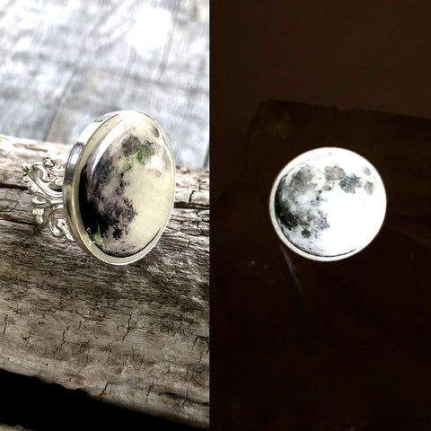 Full Moon Victorian Adjustable Ring