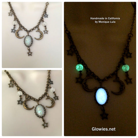 Starry Night Opal Moonlight Boutique Necklace