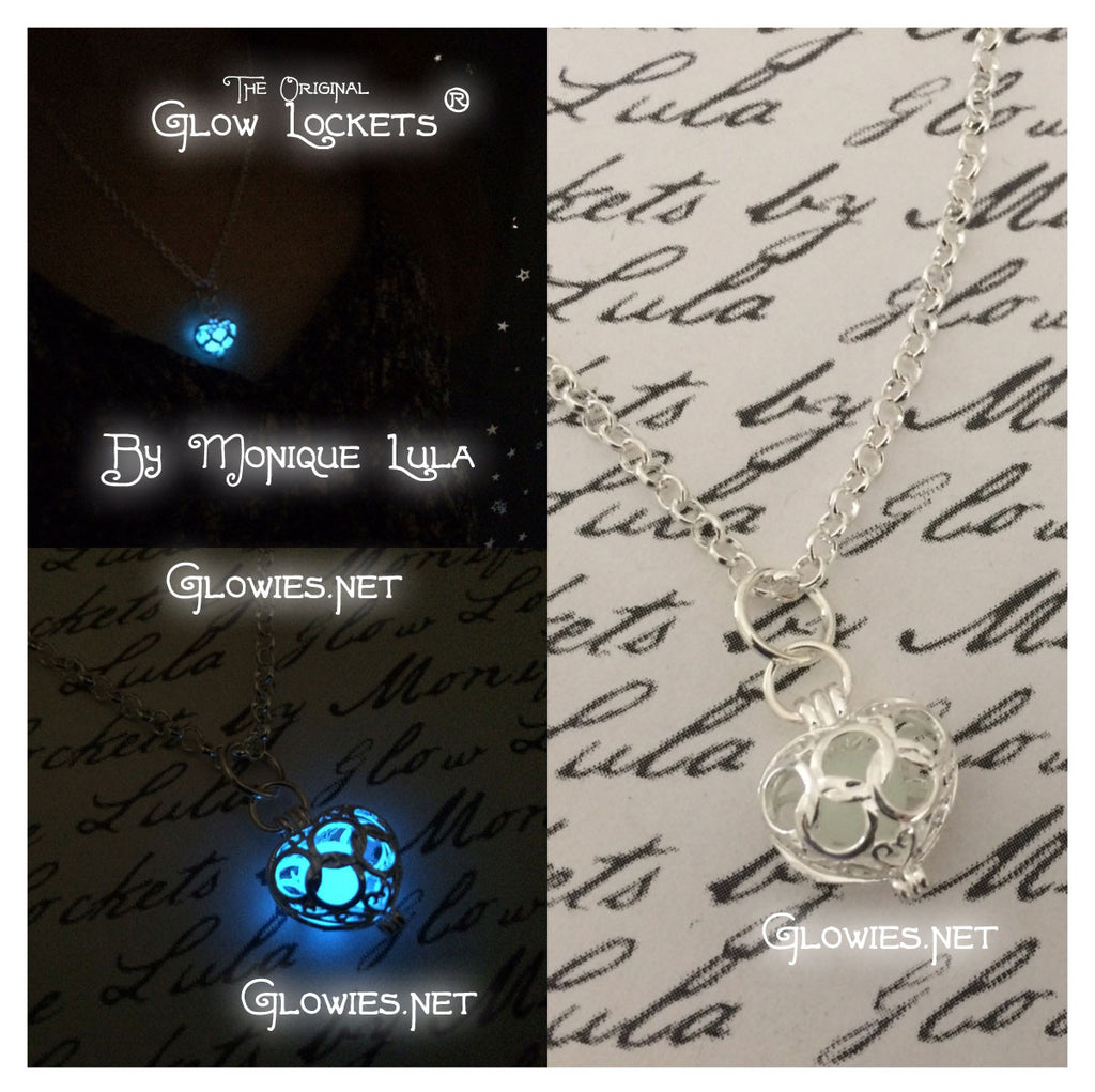 Glowing Orb Heart Necklace