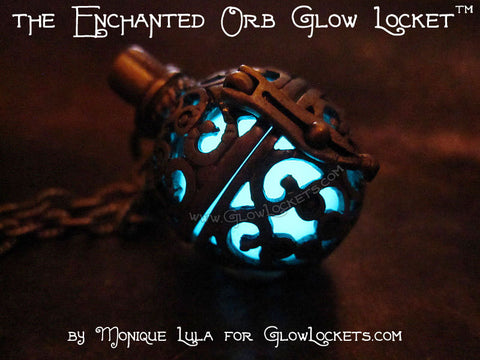 Enchanted Orb Glow Locket with UV Light