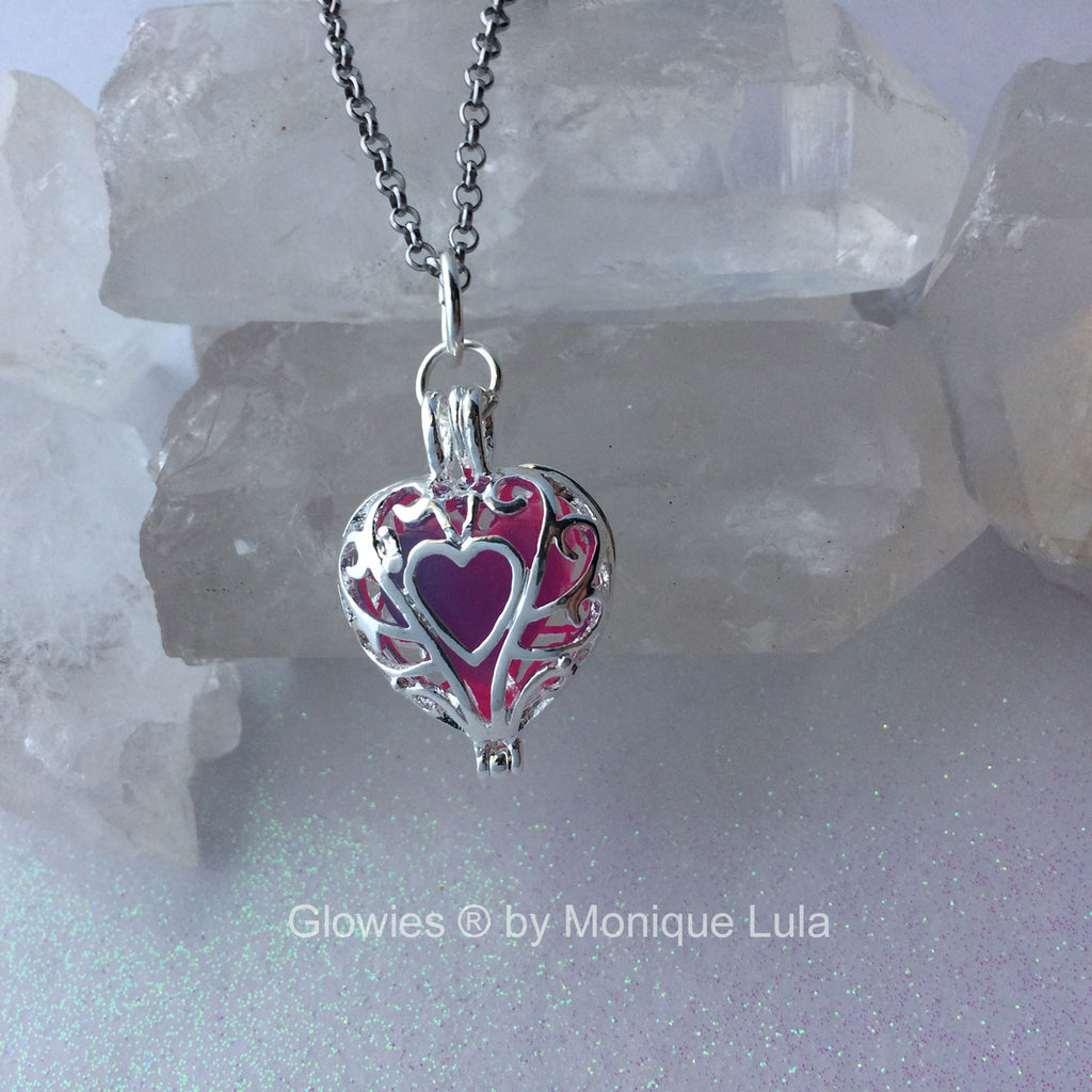 Passion Glow Frozen Heart Necklace