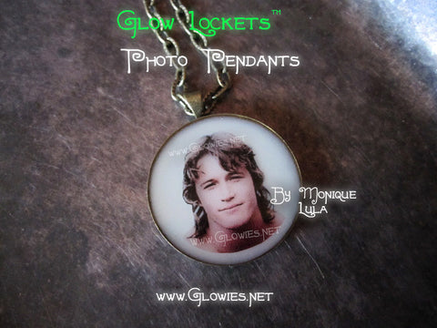Custom Photo Glow Memorial Pendants