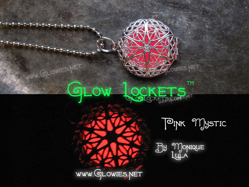 Pink Silver Plated Original Mystic Glow Locket ™