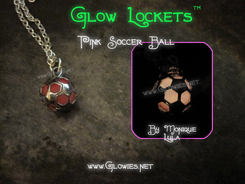 Pink Soccer Ball Glow Locket ™