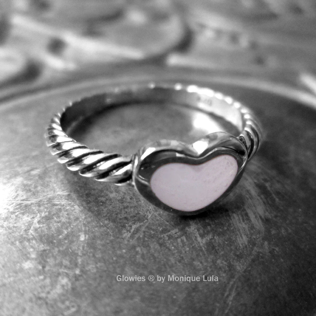 Sterling Silver Glow Heart Ring