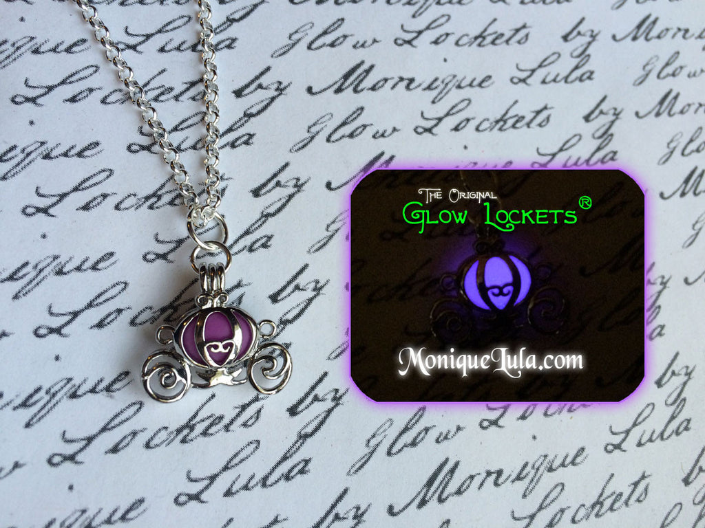 Purple Glowing Cinderella Carriage Necklace