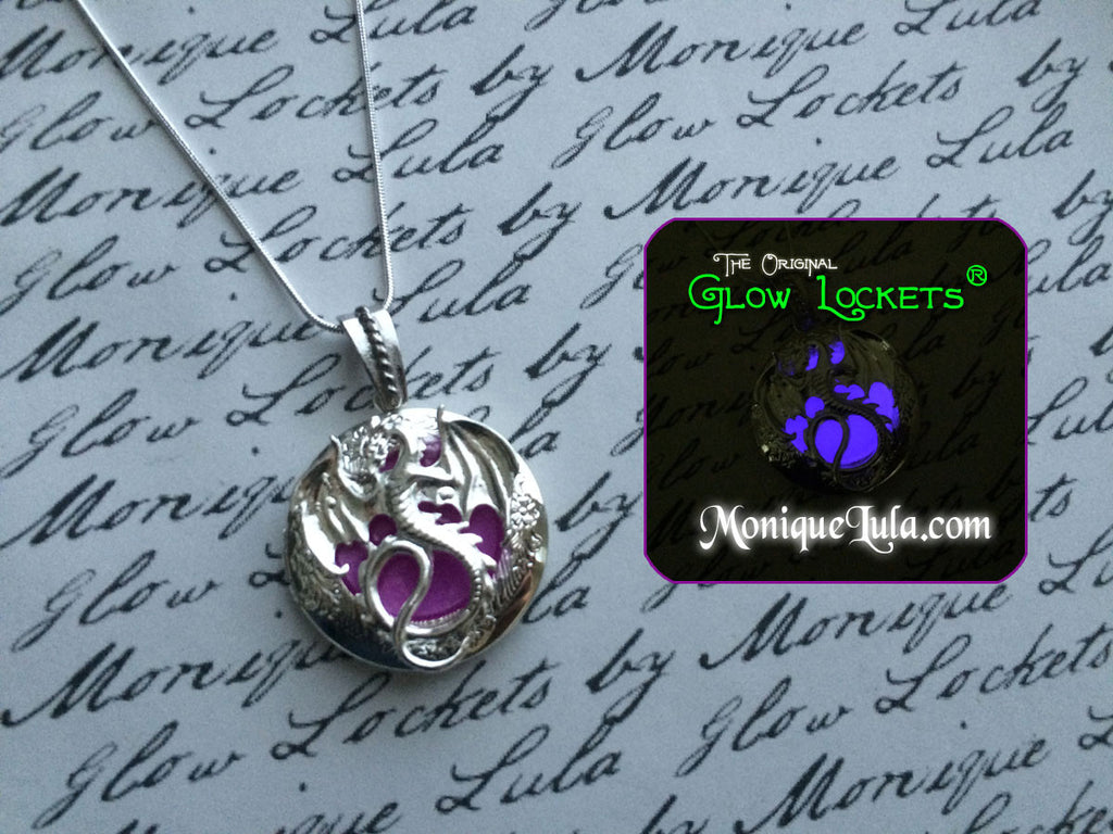 Purple Dragon Glow Locket ®