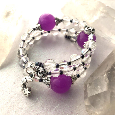 Purple Orb Glow Galaxy Bracelet