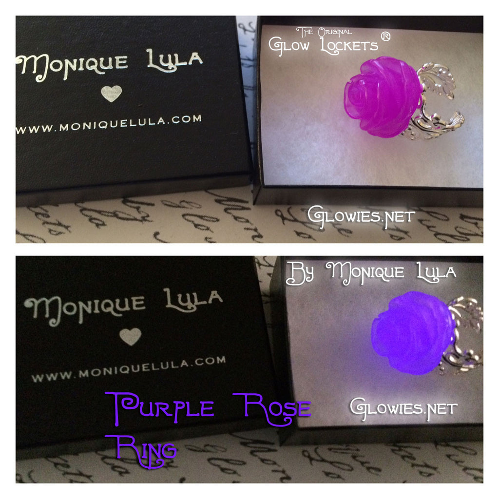 Purple Glowing Rose Ring